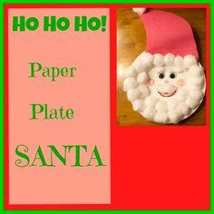 {Christmas Craft} Paper Plate Santa