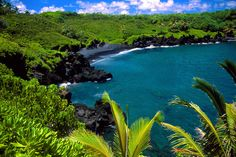 Black Beach Hana Maui, Hawaii
