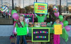 scout cooki, scout idea, cooki booth, gs cookiesboothssal, girlscout, girl scout, daisi girl, balloon, booth idea