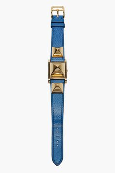 - hermes vintage- leather studded watch