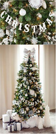 Christmas ● DIY Tutorial ● Glittered Wood Letter Garland