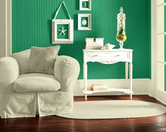 Try the Sherwin-Williams Color Visualizer to imagine what colors will look like. Use a photo of your own home, or try one of ours. Here we tried Argyle (SW 6747), our 2012 color of the year, in a living room setting.
