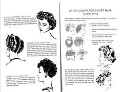 Pin curls for short hair - skull cap wave 1940s