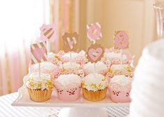 Project Nursery - Pink and Gold Birthday Party Cupcakes