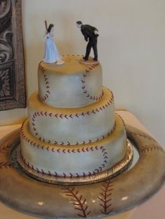 Baseball Bride & Groom. Love this!