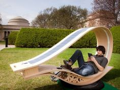 The Solar Charger Chair #technology