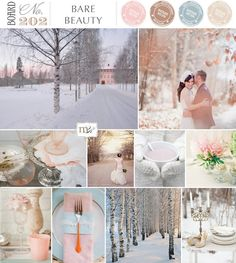 Loving the color scheme - Magnolia Rouge Bare Beauty Winter Wedding Inspiration BoardNo202