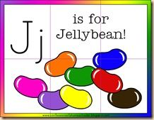 J is for Jelly Bean activities