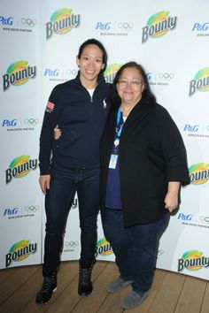 Women's Hockey player Julie Chu & her mom stopped by to visit and relax in the #PGFamily home courtesy of Bounty.