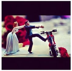 Wedding cake topper. Dirtbike love
