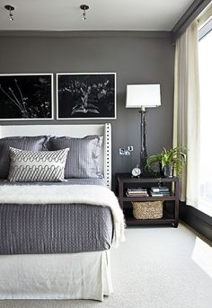 Benjamin Moore Kendall Charcoal is one of those colors that looks amazing anywhere! Walls, cabinets or furniture.  So rich but calming when mixed with whites and light grays.