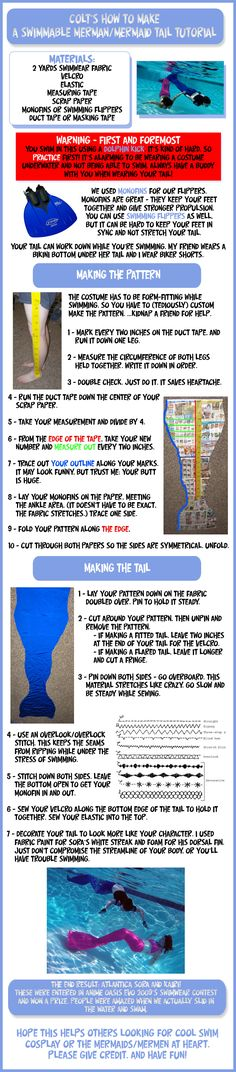 How-to: Swimmable mermaid tail by Colt-kun.deviantart.com