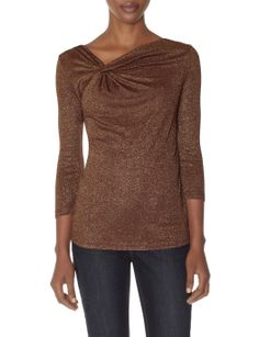 Shimmery Twist Top | Women's Tops | THE LIMITED