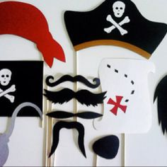Photo booth props for pirate party