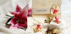 Creme and Sugar Creme Orchid Invitation