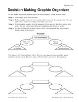 Decision Making Graphic Organizer http://www.teachervision.fen.com/social-studies/graphic-organizers/39743.html