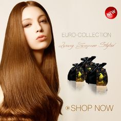 This collection offers the perfect hair texture and quality to match most #EuropeanHair.  It can be purchased in the form of I Tips, Clip-Ins or double wefts and color hues come in natural black, #2, #27 (#strawberryblonde) and #613 (#platinumblonde). Like the rest of our products, this collection is 100% full cuticle, can be washed, conditioned, blow dried, flat-ironed, curled and colored just like real hair without severe deterioration over time.