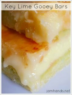 Key Lime Gooey Bars - delicious, sweet and sour from the key lime. Brilliant!