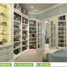 My future closet! A spot for all my shoes finally :)