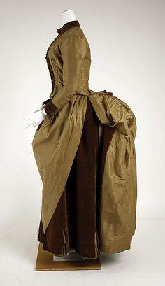 Dress Date: ca. 1884 Culture: American Medium: silk