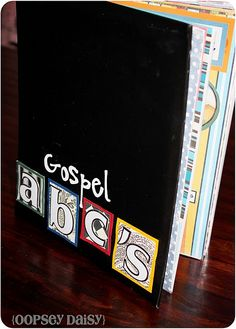 Gospel ABC's---awesome church book!!! She even offers a printable version! SO absolutely making one of these!!!