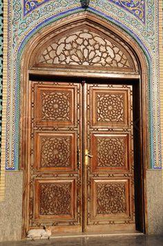 Door of a mosque in Dubai-United Arab Emirates!