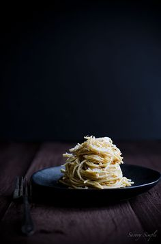 Spaghetti with Parmesan, Pine Nuts & Brown Butter Sauce