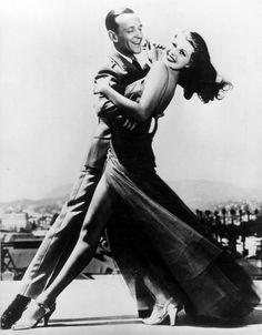 rita hayworth, lets dance, hollywood glamour, fred astaire, tango, ballrooms, get rich, gingers, ballroom dance