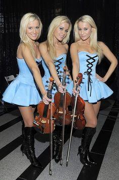 The sexy Alizma triplets are talented violinist, Aleksandra, Izabela and Monika