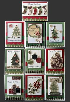 nice variety, I could make ornaments to give and attach them as part of the card.