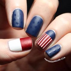 LOVE the #matte look for the #4thOfJuly! #USA