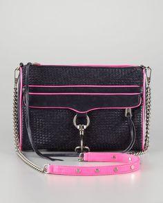 Mac Woven Clutch Crossbody Bag