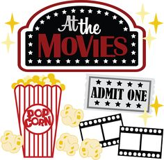 At The Movies SVG scrapbook files movie svg file for scrapbooking movie svg cuts popcorn svg film FOR MAGGIE!