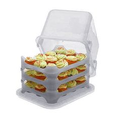 product, plastic, cupcake holders, cupcak courier, decorated cupcakes, cupcak carrier, storage containers, kitchen dining, blue skies