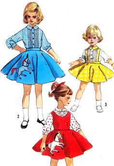1950s Girls Skirt Pattern Simplicity 2287 Girls by paneenjerez, $16.00