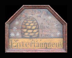 folk art, primit bee, bee magic, trade sign, honey bea