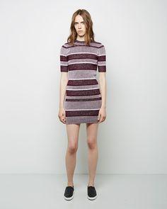 T by Alexander Wang Short Sleeve Rib Knit Dress