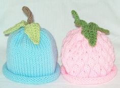 Boy Girl Twin Pack Knit Fruit Vegetable by LAOriginalsjustkidz, $35.00