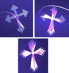 Plastic Canvas Cross - I love making these.  I have been making these for years and have made hundreds, but I have never seen a pattern before now.  I saw one and copied it pretty closely. For those who have asked me for the pattern, this is probably easier to follow than my instructions!