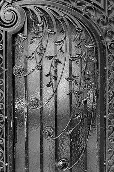 Wrought iron door in Paris