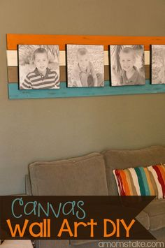 DIY Canvas wall art - easy room focal point project with a few boards and canvas prints!