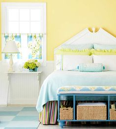 color scheme - blue/ green with a little yellow