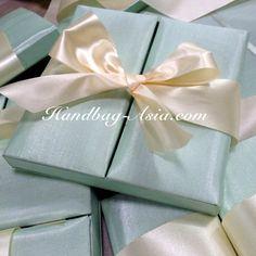 Mint Green Silk Invitation Box