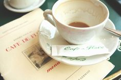 cafe paris, books, tea time, coffee break, cafe de, de flore, teas, le flore, café