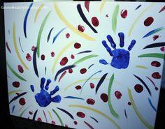 Canvas Art: Handprint Fireworks