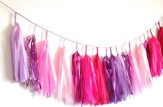 Pink Party Tassel Garland by StudioMucci on Etsy, $35.00