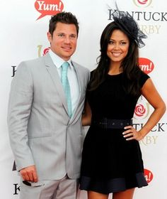 Nick Lachey and Vanessa Minnillo at the Kentucky Derby