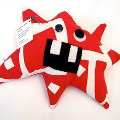 Stress Monster Plush Toy  Handmade by Jennifer D Burrell
