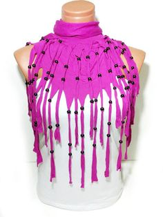 Latest Fashion Pink Women scarf Fringed and by WomanStyleStore, $23.90