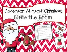 December: Christmas Write the Room + 2 Bonus Activites from TheKinderLife on TeachersNotebook.com -  (8 pages)  - December Write the Room Activities!